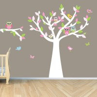 Owl Tree Art, Owl Tree decal, Owl Wall Decal, Girl Owl ...