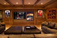 Basement Media Room Ideas. Basement Media Room with