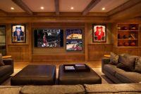 Basement Media Room Ideas. Basement Media Room with