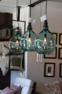 Sea Glass Globe Lights   really cool light fixtures ...