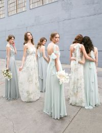 25+ best ideas about Floral Bridesmaid Dresses on