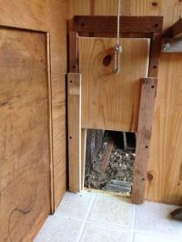very proud of my recycled coop and sliding door | chickens ...