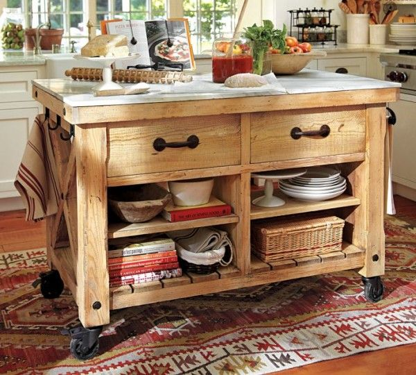 Kitchen Freestanding Island A Freestanding Island, Or Perhaps One On Wheels, Can Be