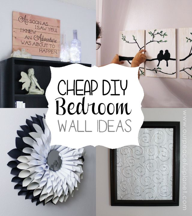 Bedroom Wall Decor Diy Wall Ideas Bedroom Wall And Diy Bedroom On - diy ideas for bedrooms