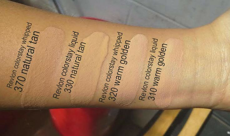Revlon Colorstay Foundation In Natural Tan And Warm Golden