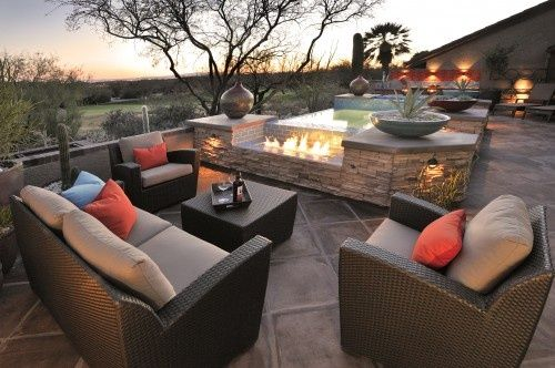 fire pit/hot tub combo