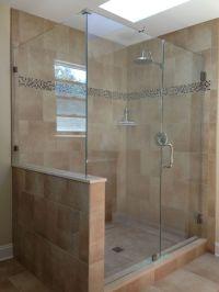 Do we put a half-wall? SHOWERMAN Frameless Shower Door ...