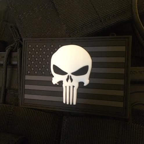 Beautiful Wallpaper With Quotes For Facebook Glow In The Dark Punisher Skull Amp American Flag Patch