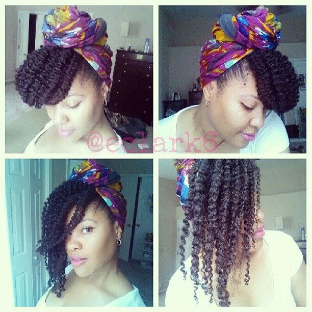 E Clark head scarf & natural hair
