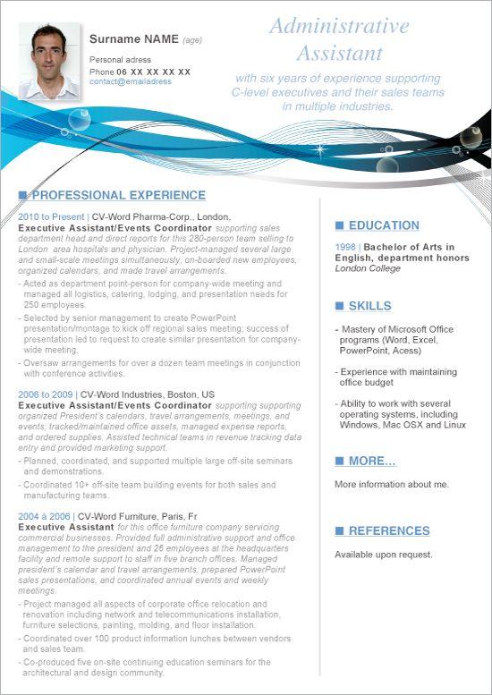 executive resume templates microsoft word