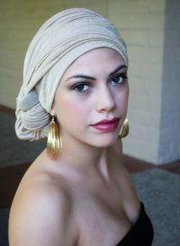 Gold Turban Chemo Hat Head Wrap Alopecia Scarf or Hijab ...