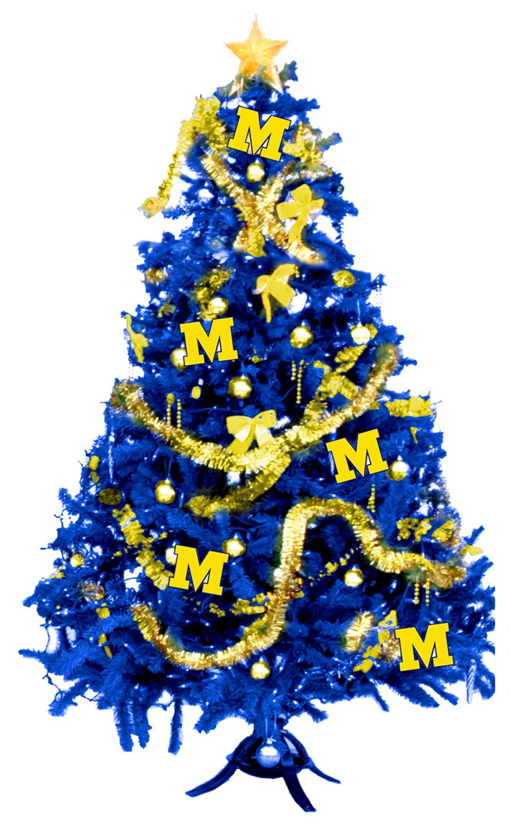 Mini michigan christmas tree for the dorm