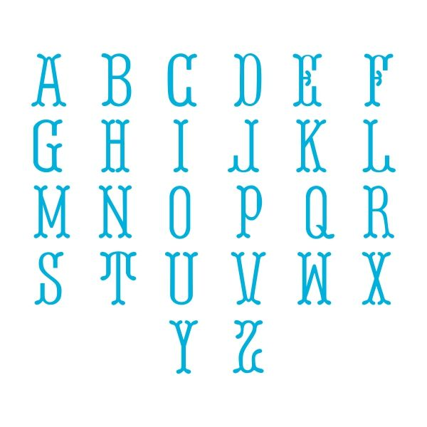 fish tail circle round svg cuttable font