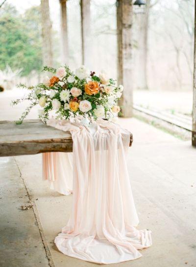 Whimsical Peach and Ivory Wedding Ideas | Wedding Sparrow ...