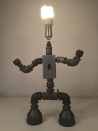 By industro Rustro - Steampunk ROBOT Desk Lamp Light ...