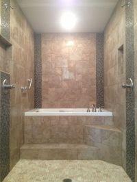 Master Bathroom renovation. Walk through dual head shower ...