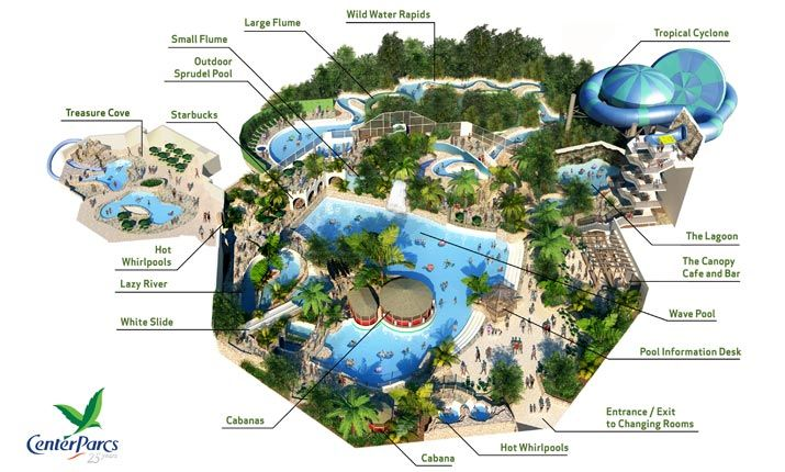 Center Parks Zwembad Map Of The Subtropical Swimming Paradise At Elveden Forest