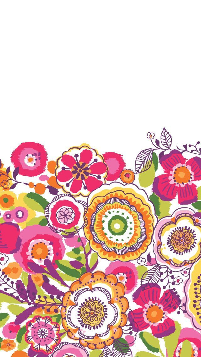 Make Your Own Monogram Iphone Wallpaper Vera Bradley Clementine My Favorite Pattern