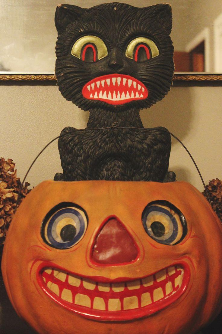 Vintage halloween paper decorations -  Vintage Beistle Halloween Paper Decorations Vintage Halloween Paper Decorations