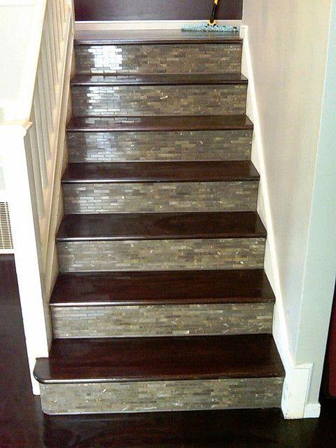 Custom Tile & Wood stairs.