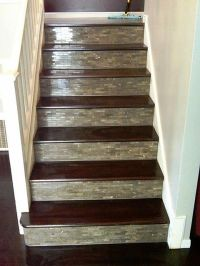 Custom Tile & Wood stairs.