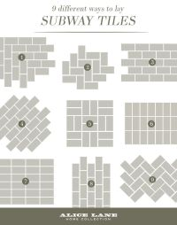 Best 25+ Subway tile patterns ideas on Pinterest | Tile ...