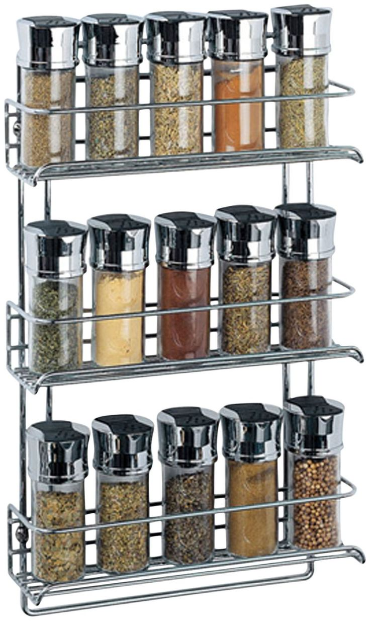 1812 3 Tier Wall Mounted Spice Rack Chrome Casacom