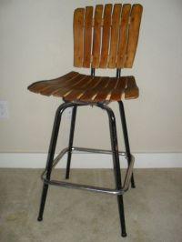 Vintage Mid Century Modern Arthur Umanoff Slat Wood Swivel ...