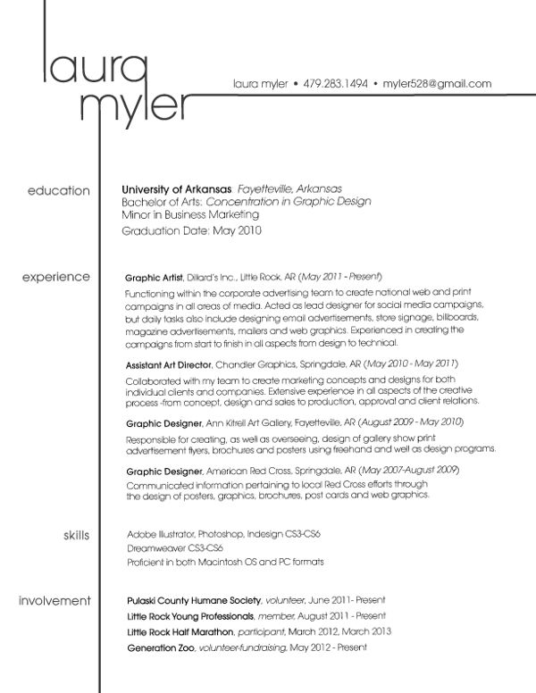 great resume layout
