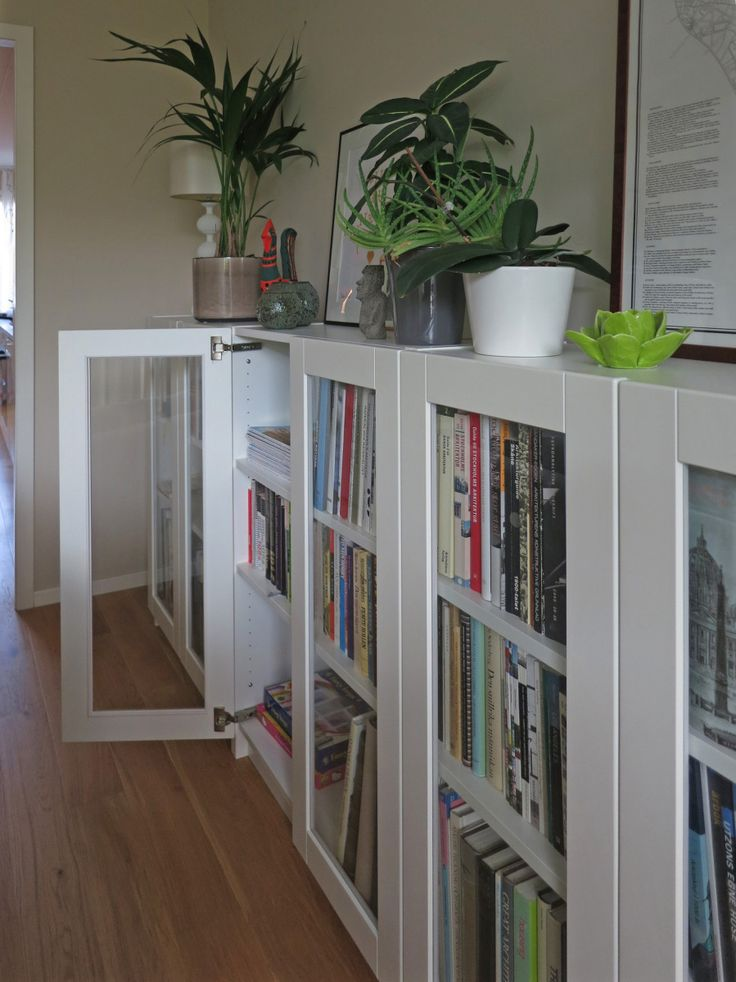 Billy Bookcases With Grytnas Glass Doors Ikea Hackers
