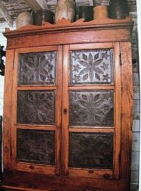 Punched Tin Cabinet Doors  Cabinets Matttroy
