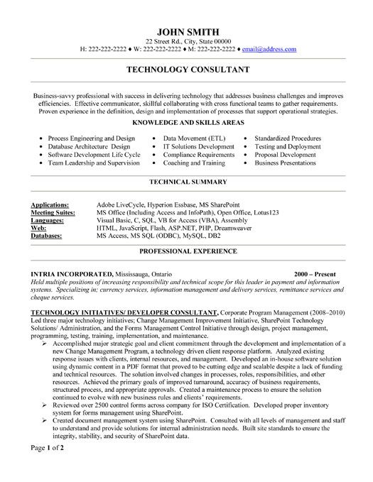 it consulting resume 04052017