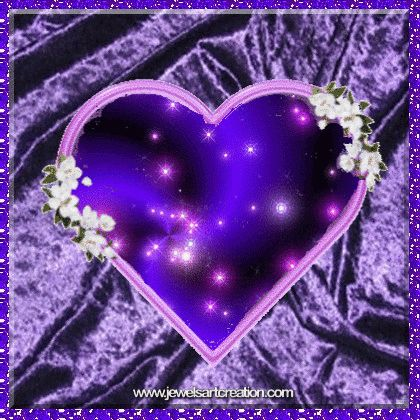 Good Morning Animation Wallpaper Purple Heart Animated Background Free To Use Download Or