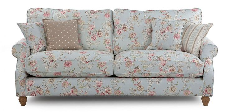 Ikea Ektorp Sofa Bed For Sale Grand Floral Sofa- Country Style | Shabby Chic | Pinterest