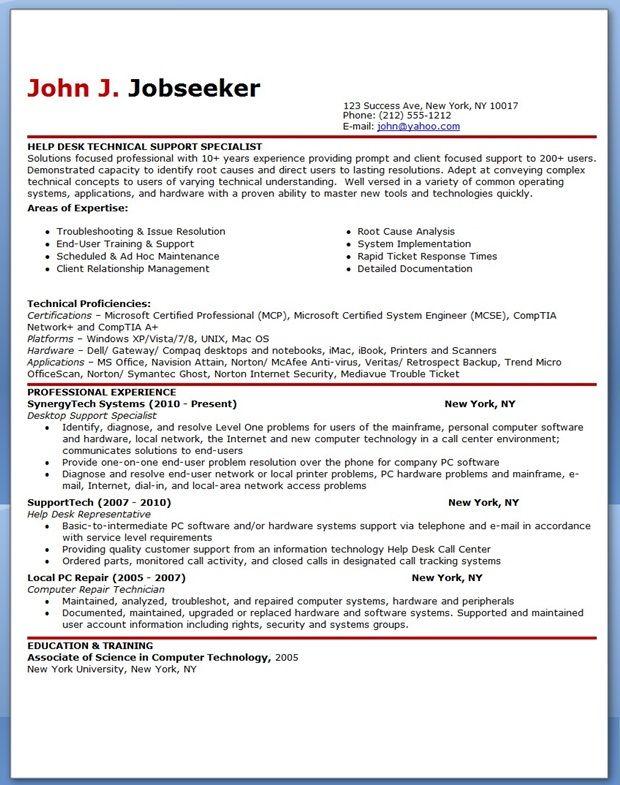 Help Desk Resume Examples it professional resume example resume - it professional resume examples