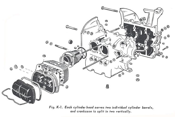 1600cc vw engine head diagram