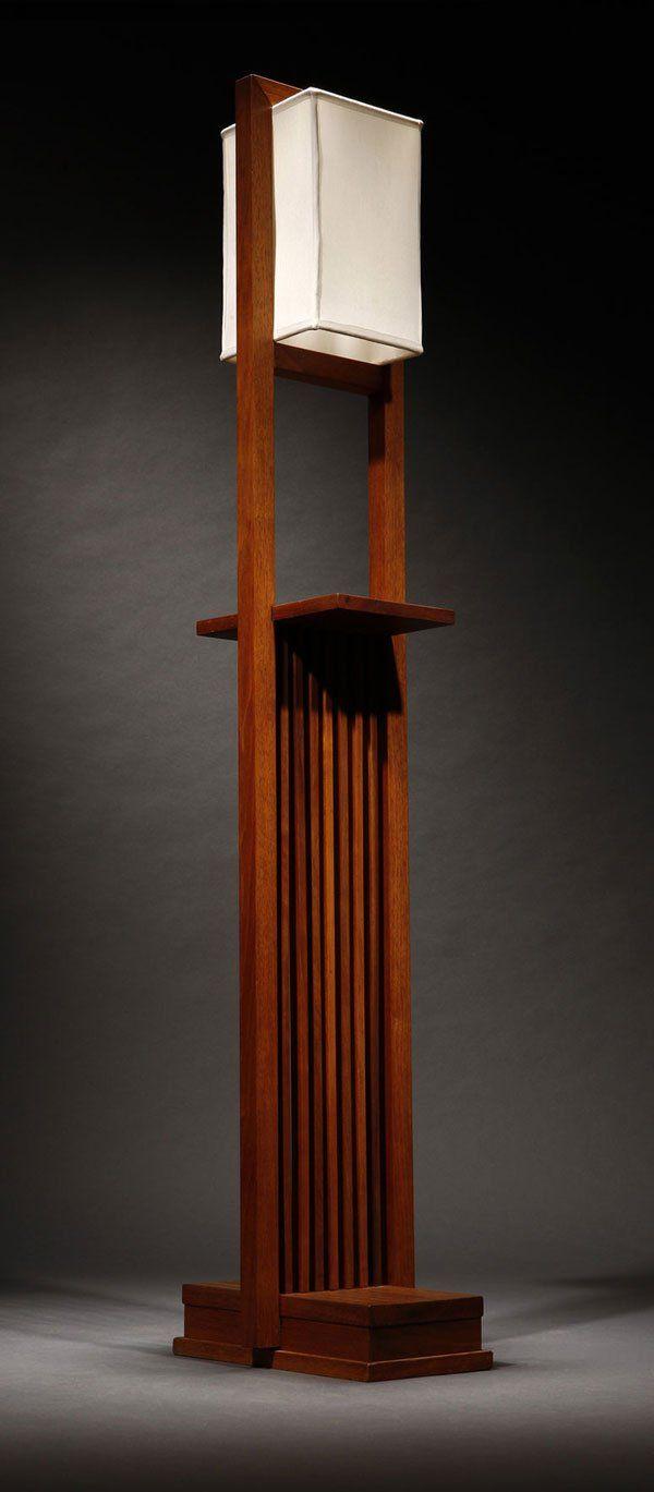 A Frank Lloyd Wright Designed Walnut Floor Lamp Projects