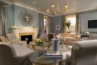 Blue Walls and Light Gray Furniture in Living Room | For ...
