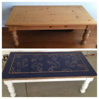 Nautical themed up-cycled coffee table   diy   Pinterest ...
