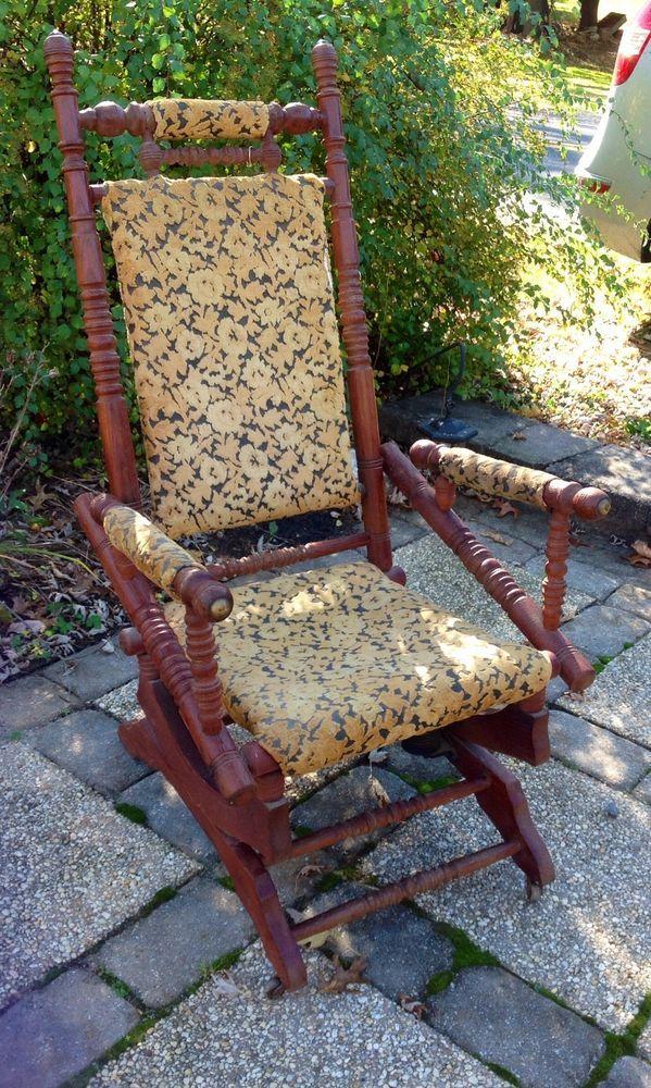Victorian Platform Rocking Chair Rocker 180039s Victorian