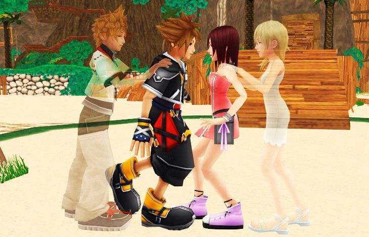 Love U So Much Quotes Wallpaper Roxas Quot Just Kiss Her Already Quot Namine Quot C Mon Kairi