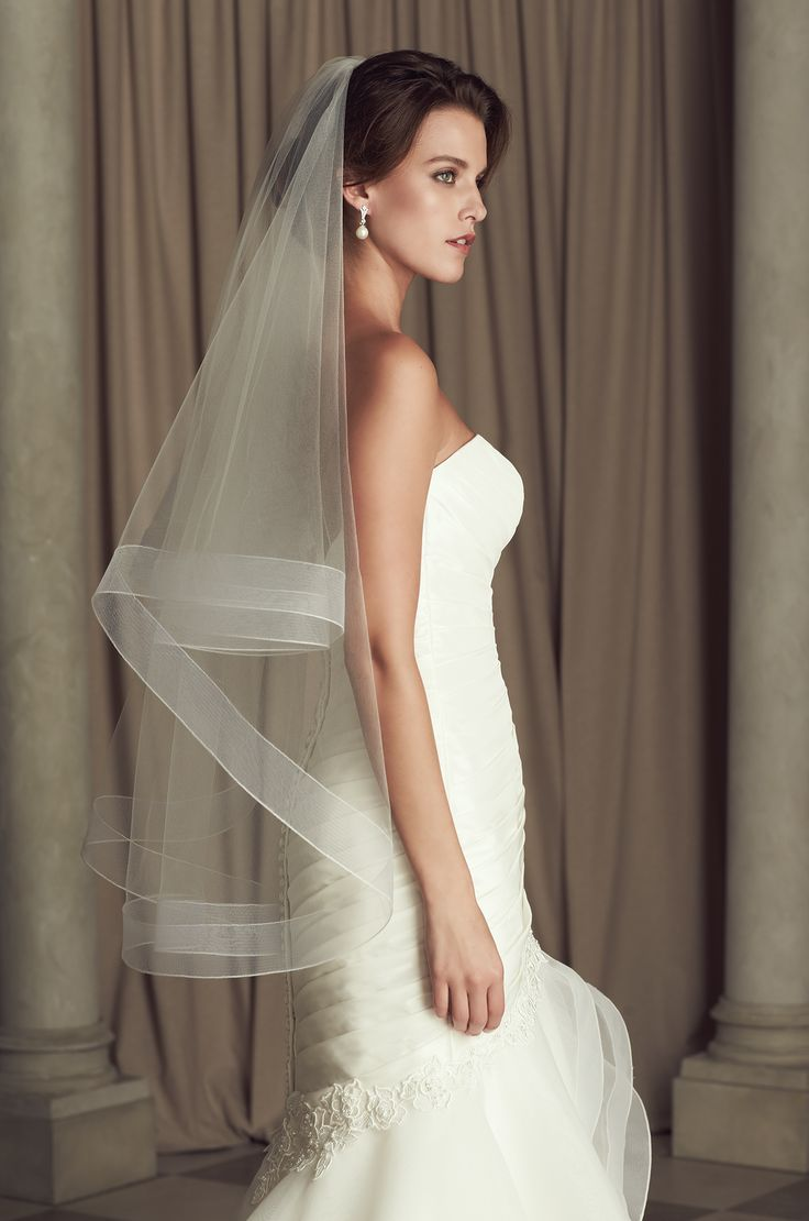 fingertip veil wedding veils Style Bridal Veils Collection by Paloma Blanca Available in Two