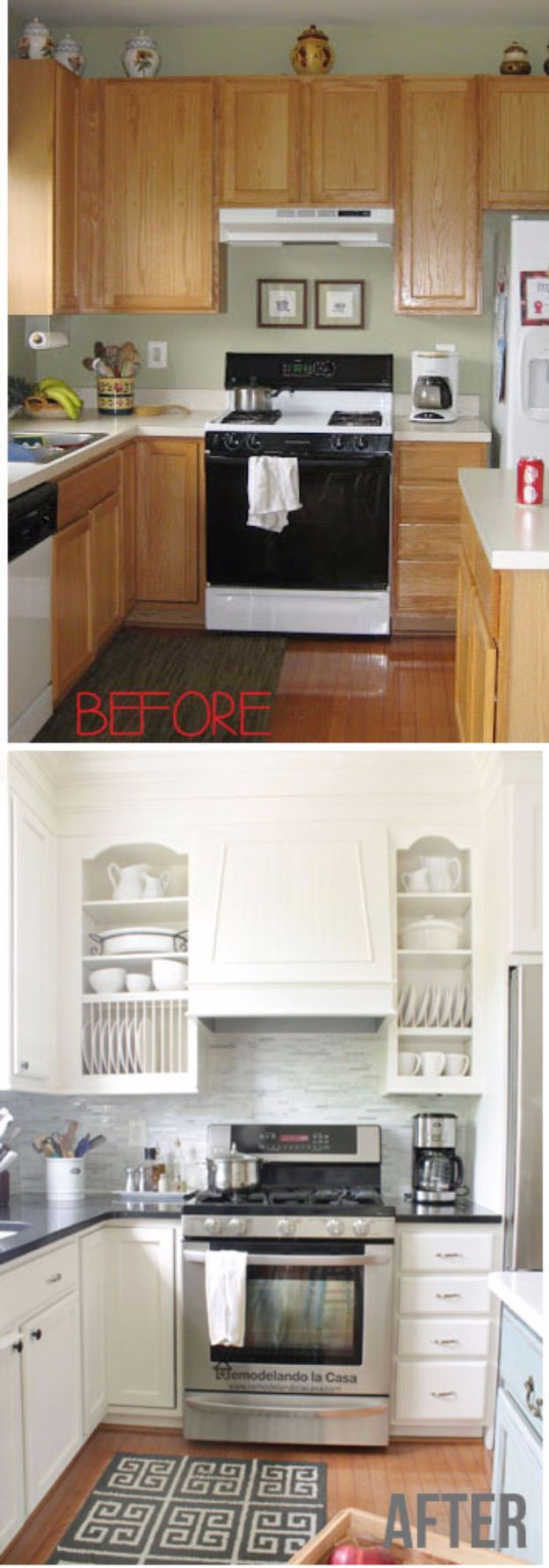 cabinet door makeover kitchen makeover ideas 37 Brilliant DIY Kitchen Makeover Ideas