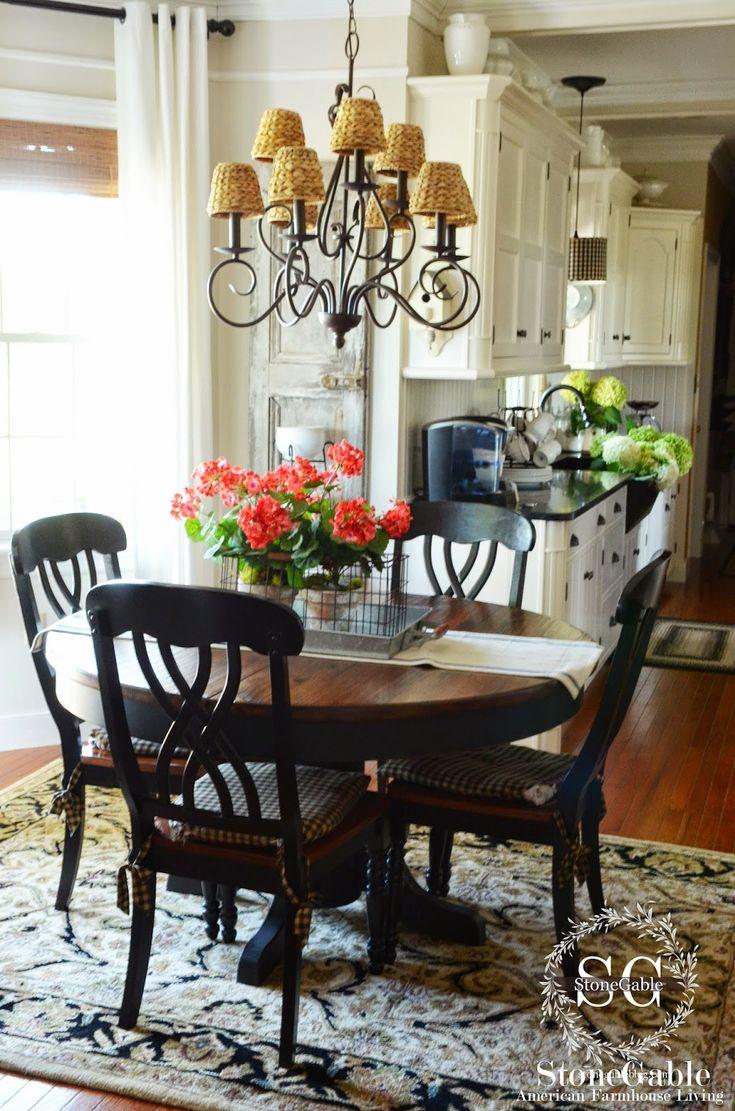 white kitchen table set round kitchen tables THE SUMMER FARMHOUSE KITCHEN Round Kitchen TablesKitchen