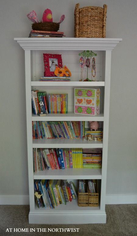 Add Crown Molding To A Simple Bookshelf At Home In The