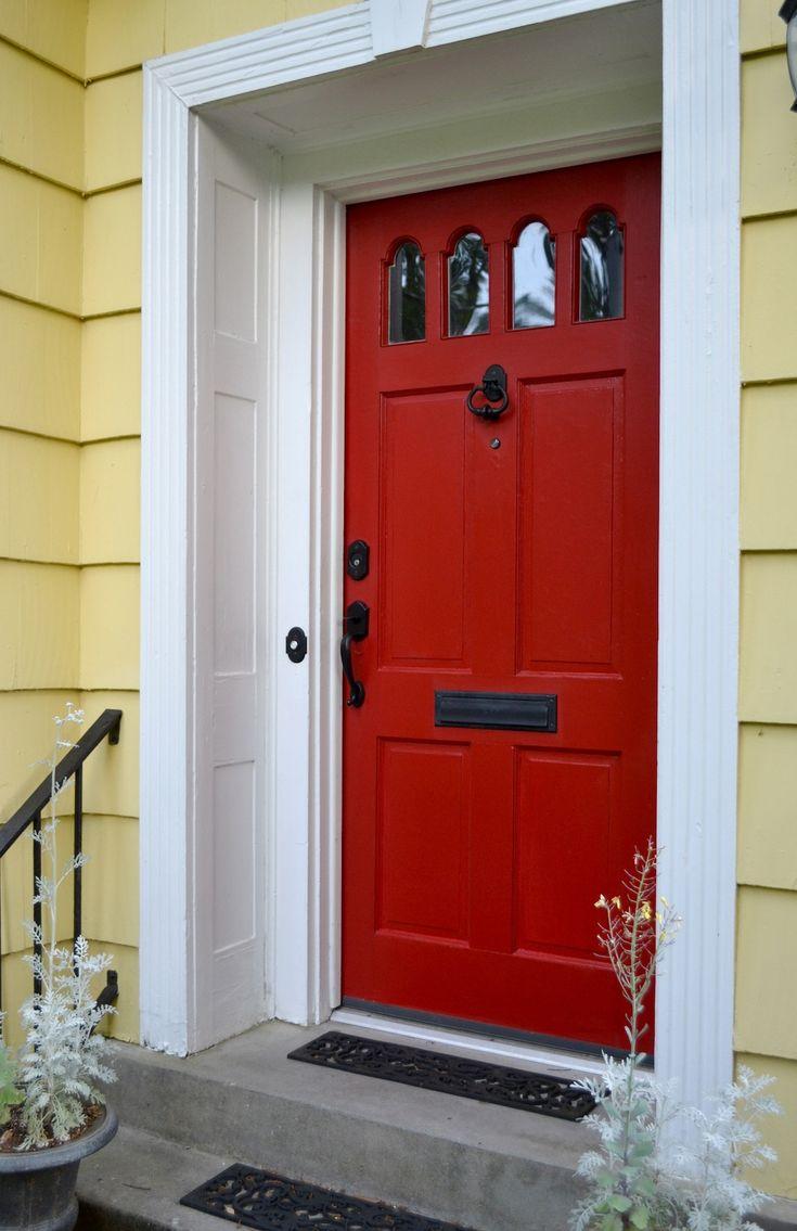 Comment peindre une porte d entr e principale red front doorsfront door