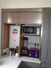 Appliance garage with tambour door. | rashmi | Pinterest ...