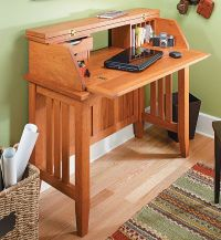 Notebook Computer Desk Woodworking Plan - WoodWorking ...