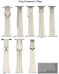Swags Flags: Cascading Triple point / Drapery Swag Long ...