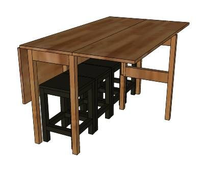 Small Drop Leaf Table Plans